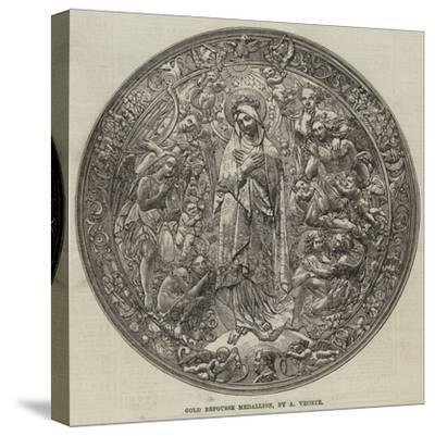 Gold Repousse Medallion, by a Vechte--Stretched Canvas Print