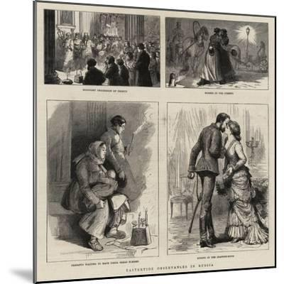 Eastertide Observances in Russia--Mounted Giclee Print