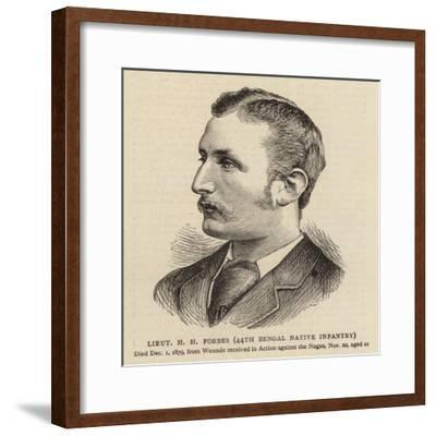 Lieutenant H H Forbes, 44th Bengal Native Infantry--Framed Giclee Print