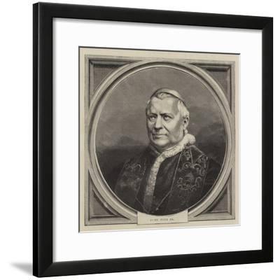 Pope Pius IX--Framed Giclee Print