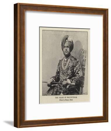 The Rajah of Kapurthala--Framed Giclee Print