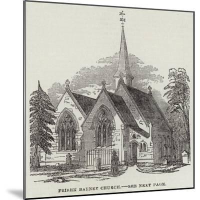 Friern Barnet Church--Mounted Giclee Print
