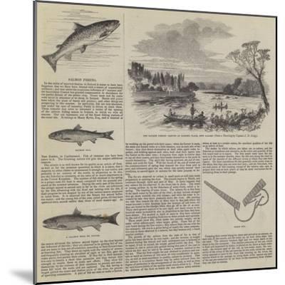 Salmon Fishing--Mounted Giclee Print