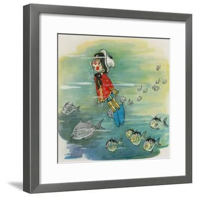 Pinocchio--Framed Giclee Print