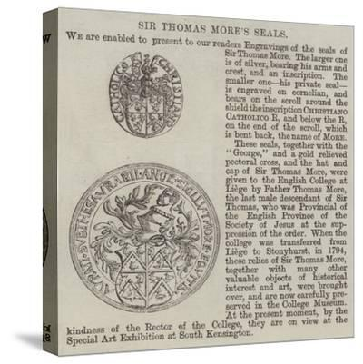 Sir Thomas More's Seals--Stretched Canvas Print