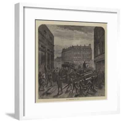 The Barricades in Paris--Framed Giclee Print