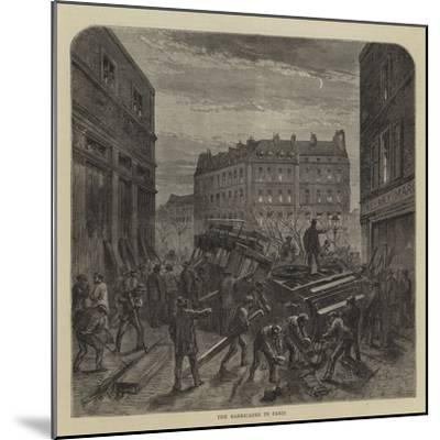 The Barricades in Paris--Mounted Giclee Print