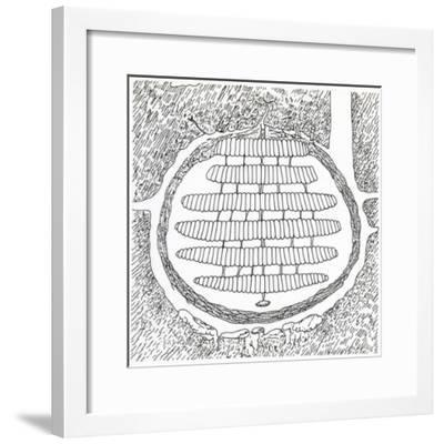 Cross-Section of German Wasp's Nest, Vespidae--Framed Giclee Print