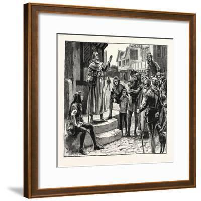 One of Wycliffe's Poor Priests Preaching to the People--Framed Giclee Print