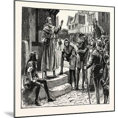 One of Wycliffe's Poor Priests Preaching to the People--Mounted Giclee Print