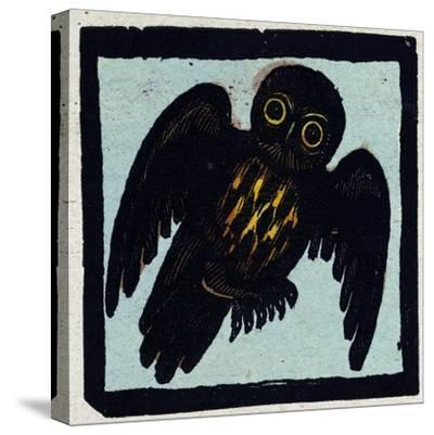 Illustration of English Tales Folk Tales and Ballads, an Owl--Stretched Canvas Print