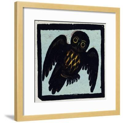 Illustration of English Tales Folk Tales and Ballads, an Owl--Framed Giclee Print