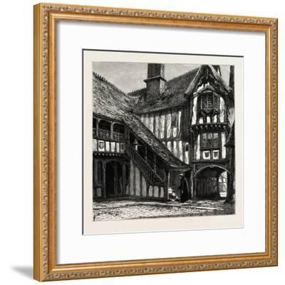 Courtyard of Leicester's Hospital, UK--Framed Giclee Print