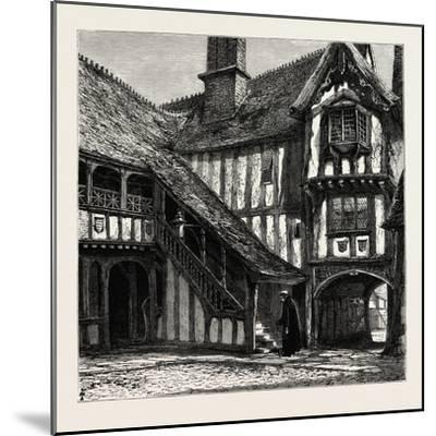 Courtyard of Leicester's Hospital, UK--Mounted Giclee Print