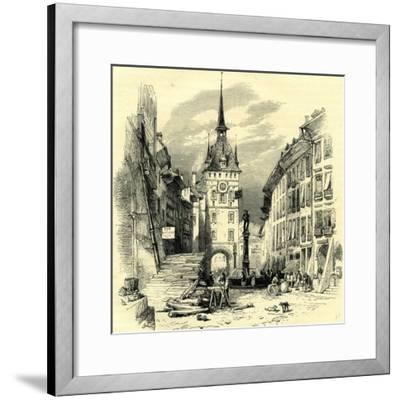 High Street Berne Switzerland--Framed Giclee Print