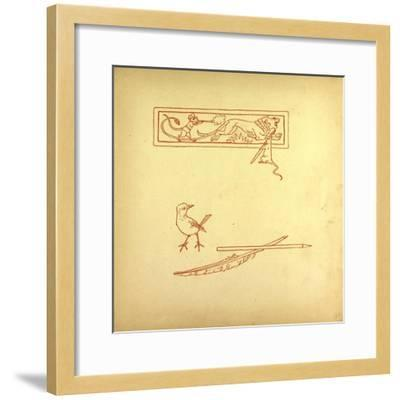 A Bird and a Feather and a Mouse Shooting at a Lion--Framed Giclee Print