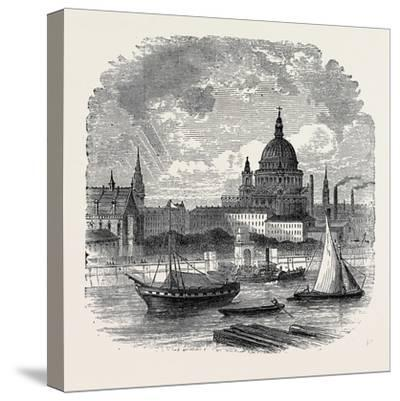 Views on the Embankment, London, 1870, UK--Stretched Canvas Print