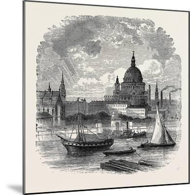 Views on the Embankment, London, 1870, UK--Mounted Giclee Print