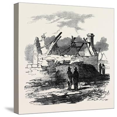 Cabin of Pat. Macnamara, Village of Clear--Stretched Canvas Print