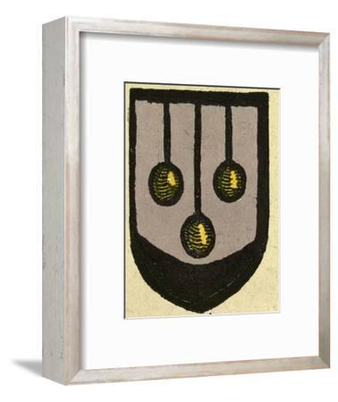 Illustration of English Tales Folk Tales and Ballads, Coat of Arms--Framed Giclee Print