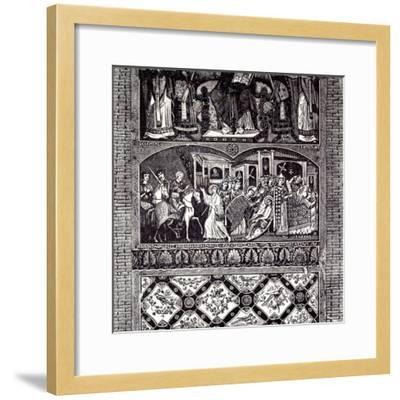 Rome Italy 1875 Legend of St. Alexius: Fresco of the Tenth Century--Framed Giclee Print