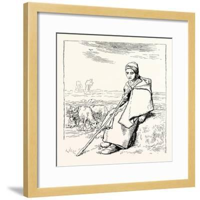 Shepherding, La Bergere, Shepherd--Framed Giclee Print
