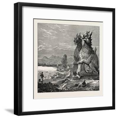 Idols on the Banks of the River Irrawaddy, Burmah--Framed Giclee Print