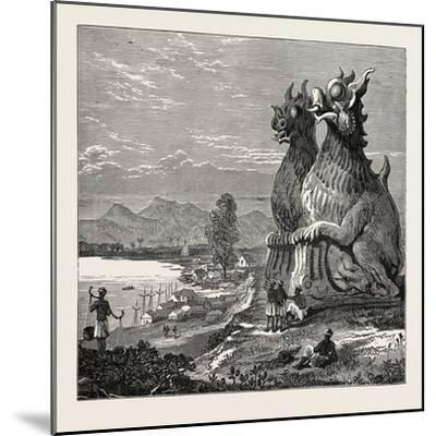 Idols on the Banks of the River Irrawaddy, Burmah--Mounted Giclee Print