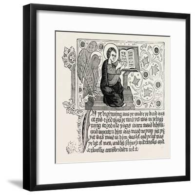Passage from the First English Bible: Gospel of St. John Ch. I--Framed Giclee Print
