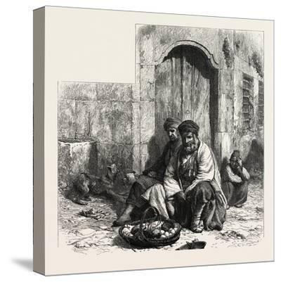 Kurdish Dealers, Constantinople, Istanbul, Turkey, 19th Century--Stretched Canvas Print