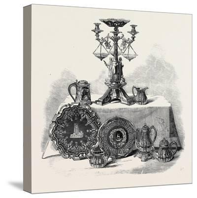 Plate Presented to Henry Workman Esq. of Evesham--Stretched Canvas Print
