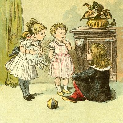 The Nursery 1885 U.K.--Framed Giclee Print