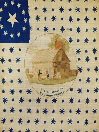 William Henry Harrison, the Ohio Farmer, 1840--Framed Giclee Print