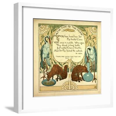 The Fox and the Crane--Framed Giclee Print