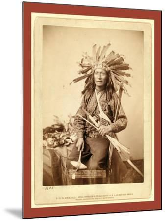 Little, the Instigator of Indian Revolt at Pine Ridge, 1890--Mounted Giclee Print
