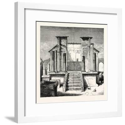 The Temple of Isis Pompeii--Framed Giclee Print