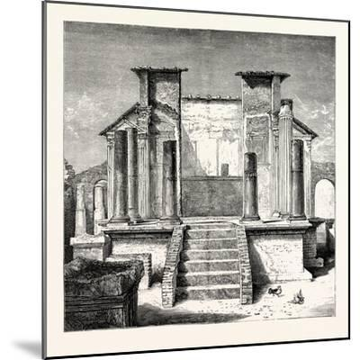 The Temple of Isis Pompeii--Mounted Giclee Print