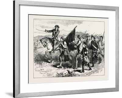 The Crowd at Springfield with the Black Flag, USA, 1870s--Framed Giclee Print