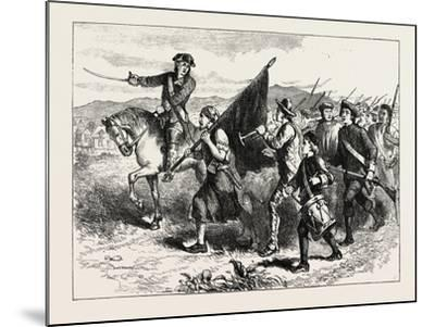 The Crowd at Springfield with the Black Flag, USA, 1870s--Mounted Giclee Print