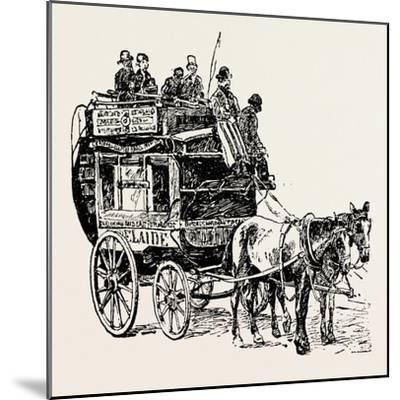 An Omnibus--Mounted Giclee Print
