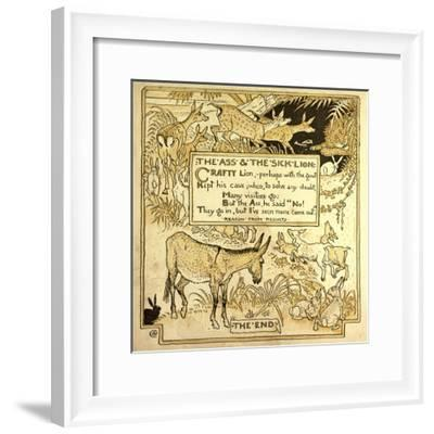 The Ass and the Sick Lion--Framed Giclee Print