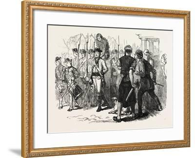 A Countryman Tarred and Feathered, USA, 1870s--Framed Giclee Print