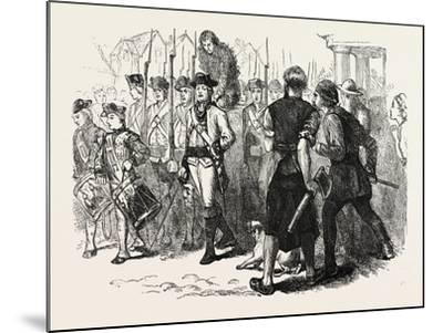 A Countryman Tarred and Feathered, USA, 1870s--Mounted Giclee Print