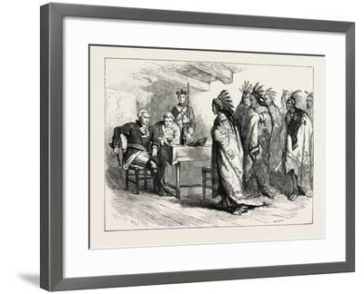 Visit of Pontiac and the Indians to Major Gladwin, USA, 1870S--Framed Giclee Print
