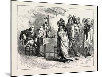 Visit of Pontiac and the Indians to Major Gladwin, USA, 1870S--Mounted Giclee Print