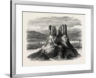 Basaltic Pinnacles on the Columbia River, USA, 1870s--Framed Giclee Print