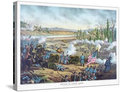 Battle of Stones River, Pub. Kurz and Allison, 1891--Stretched Canvas Print