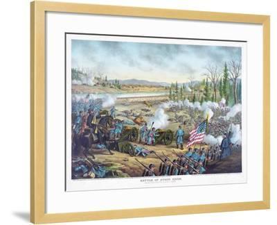 Battle of Stones River, Pub. Kurz and Allison, 1891--Framed Giclee Print