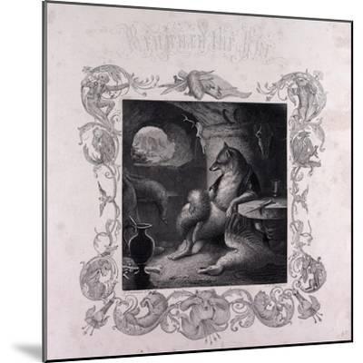 Reynard the Fox at Home--Mounted Giclee Print