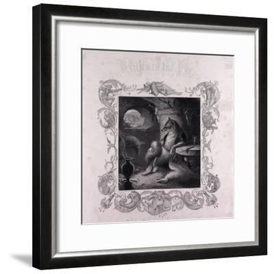 Reynard the Fox at Home--Framed Giclee Print